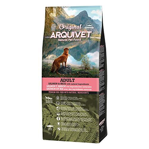 Arquivet Original Adult - Pienso para Perros Adultos - Salmón y arroz - Comida para Perros - Alimento seco para Perros - Alimentación Canina - Pienso Saludable - 12 kg