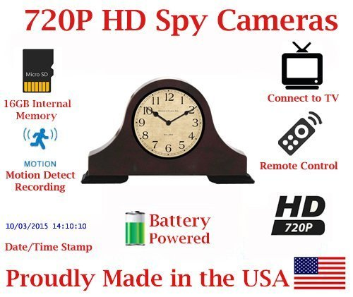 Why Should You Buy SecureGuard 30 Day Battery Powered 720P Mantle Clock Spy Camera