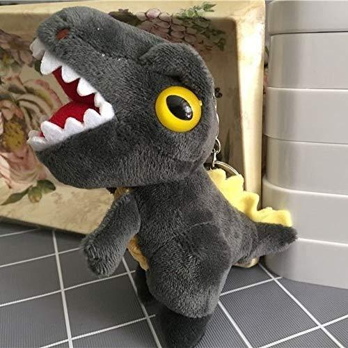 nbrand Mini Simulation Tyrannosaurus Puppe Dinosaurier Plüsch Spielzeug Big Mouth kleiner Dinosaurier Anhänger Schlüsselanhänger Puppe Ragdoll, Schwarz