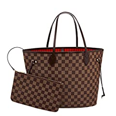 12.6 x 11.4 x 6.7 inches (Length x Height x Width) Redesigned interior with Louis Vuitton archive details, Textile-lined inside pocket Removable zippered clutch with matching interior Natural cowhide leather trim, Golden color metallic pieces