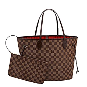 Fashion Shopping Louis Vuitton Neverfull MM Damier Ebene Bags Handbags Purse N41358
