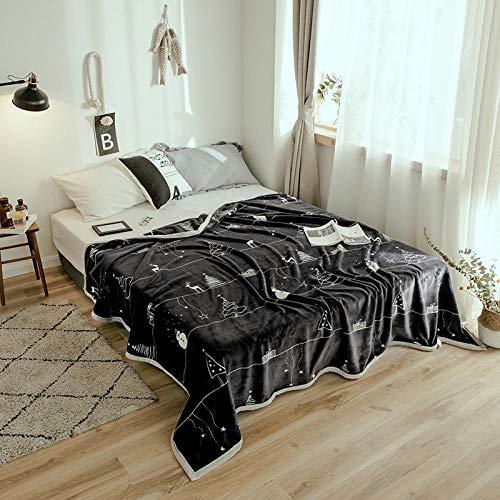 PengMu zachte sofadeken, verdikte randkoraalvlies, kan jezelf kogelzwarte kerstboom niet lijden, onderhoudsvriendelijk, superwarme deken