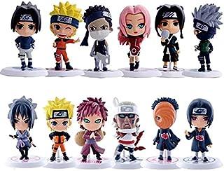 12 pçs lote 7cm japão anime personagem naruto figuras de ação kakashi sakura sasuke itachi obito gaara boneca vinil pvc mo...