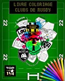 LIVRE DE COLORIAGE POUR ENFANTS SPECIAL CLUBS DE RUGBY TOP 14