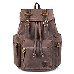 This vintage canvas rucksack is great for those after the vintage look style of rucksck