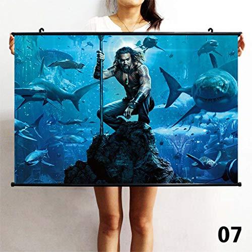 TS.13 Aquaman Wall Poster For Dorm Painting Decoración para El Hogar Lámina Impermeable