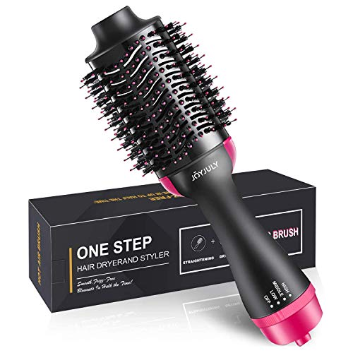 Hair Dryer Brush,Hot Air Hair Brush 4 in 1 Electric One Step Hair Blow Dryer Comb Volumizer with Negative Ions for Hair Dryer, Styling, Curler Straightener
