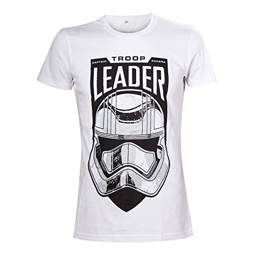 Star Wars The Force Awakens Adult Male Troop Leader Stormtrooper Camiseta, Blanco (White), X-Large para Hombre