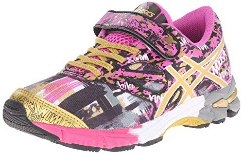 ASICS Gel Noosa Tri 10 PS GR Triathlon Shoe (Toddler/Little Kid), Pink Glow/Gold/Gold Ribbon, 13 M US Little Kid