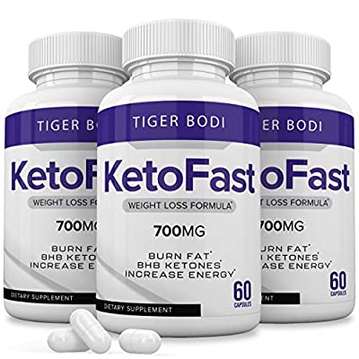 Keto Fast Diet Pills, Keto Fast 700 mg Burn Weight Management Capsules (3 Pack) - Pure Keto Fast Supplement for Energy, Focus - BHB Ultra Boost Exogenous Ketones for Rapid Ketosis for Men Women