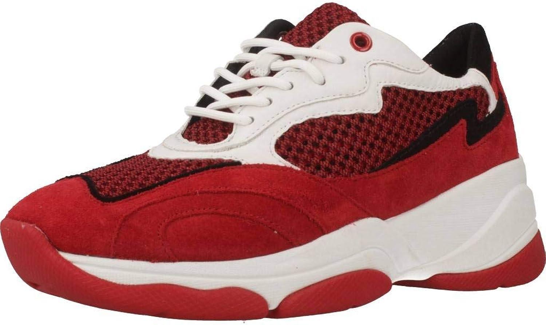 Geox Basket, Couleur Rouge, Marque, modèle Basket D92BPB Rouge
