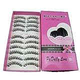 Laimeng,New Japanese Style Black 10 Pairs Eyelashes