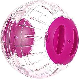 小動物ランナーボール ハムスターとマウス 小型動物ハムスター用ハムちゃんのプレイボール 透明 運動不足 ストレス消除 12cm (ピンク)