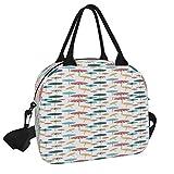 Bolsa de almuerzo, bajo mi sombrilla bolsa de picnic reutilizable para el almuerzo, bolsa de almuerzo con correa para el hombro, para el trabajo, la escuela, la playa