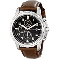 Fossil Men's Dean Chronograph Brown Leather Watch