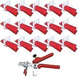 Heritan 401 sistema de nivelación de azulejos de 2 mm, 300 pinzas+100 cuñas+1...