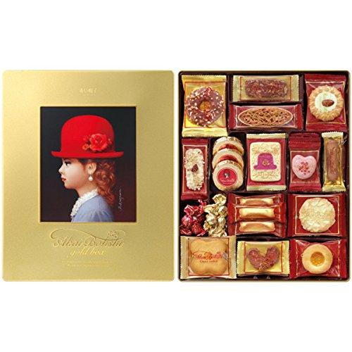 チボリーナ お菓子ギフト 赤い帽子 ゴールドボックス 缶入りクッキー詰め合わせ