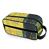 Cafe Terrace At Night by Vincent Van Gogh Organizador de artículos de tocador Bolsa de Viaje con Cremalleras Bolsas de baño Accesorios de Viaje de Mano Bolsa de Maquillaje de Viaje para