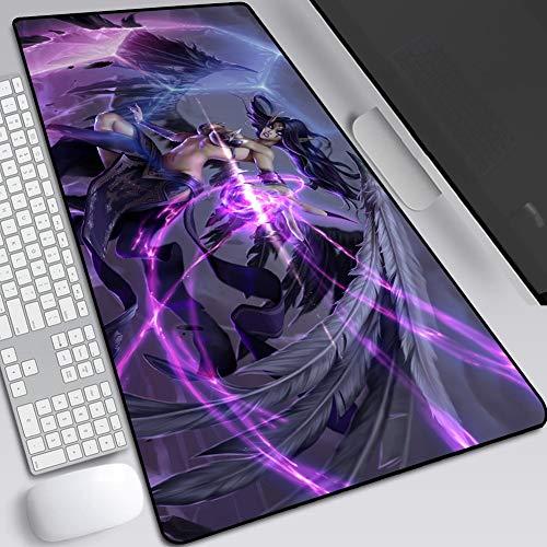 Gaming Mouse Pad / Mat utökad Large Size Mousepad for Computer-Desktop-PC Laptop-tangentbord-Pad skrivbordsunderlägg med halkskyddad golv rektangel mus ++++++ (färg: J , storlek: 300 x 800 x 5 mm)