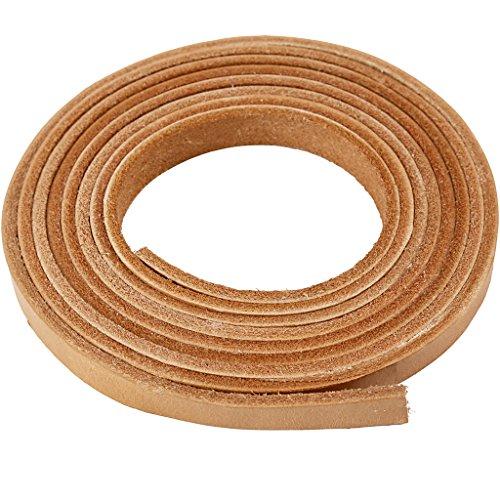 Banda de piel, ancho: 10 mm, grosor: 3 mm, natural, 2 m