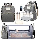 3 in 1 Diaper Bag Backpack, Foldable Travel...