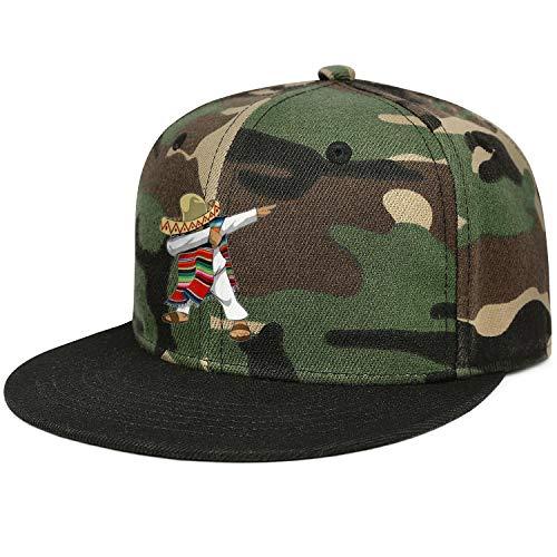 AIKYAN Mexican Flag Poncho Dabbing Cinco Flatbrim Camo Snapback Baseball Cap Fashion Ball Hat