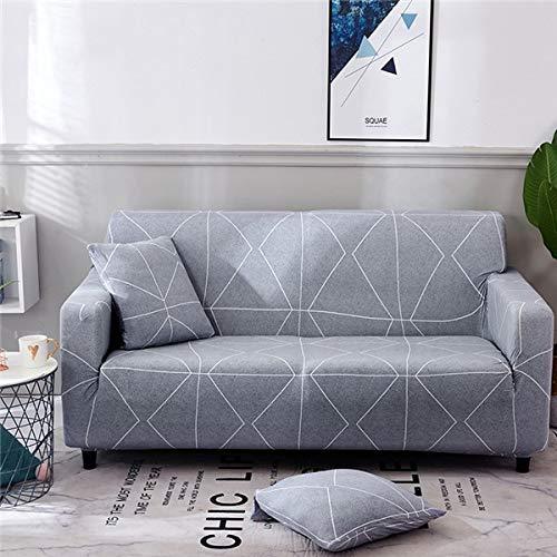 ASCV Moderne elastische Sofabezug für Wohnzimmer Sofa Schonbezüge Tight Wrap All-Inclusive Couchbezug Möbel Protector A8 3-Sitzer