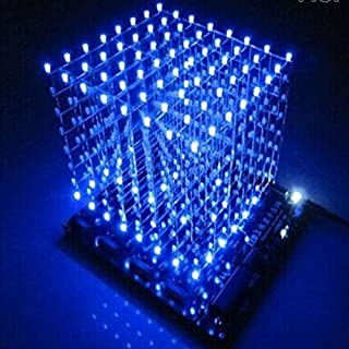 Gikfun 3D LightSquared DIY Kit 8x8x8 3mm LED Cube White LED Blue Ray EK1568