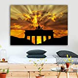 N / A Reliable Architectural Colorful Cloud Poster Printing Art Mural Canvas Living Room Home Decoration Frameless 60x80cm