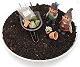 Nain de jardin DIY Kit de jardin - Nains de jardin fille et garçon avec brouette de jardin miniature et accessoires