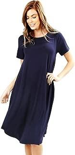 Zenana Viscose Short Sleeve Round Neck Dress