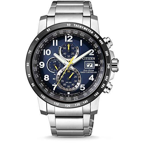 Citizen Herren Chronograph Eco-Drive Uhr mit Edelstahl Armband AT8124-91L