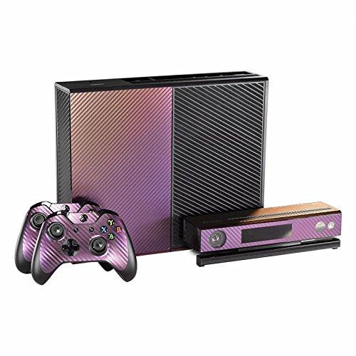 eXtremeRate Aufkleber für Microsoft Xbox One Konsolensteuerung, Violett/goldfarben