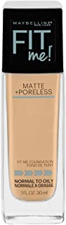Maybelline Fit Me Matte + Poreless Liquid Foundation Makeup, Classic Ivory, 1 fl. oz...
