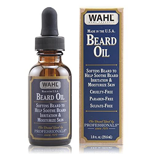 Wahl Premium Beard Oil with 10 Essential Oils for Moisturizing Skin & Beard Hair - Manuka, Meadowfoam Seed, Clove, & Moringa – 1 Fl Oz