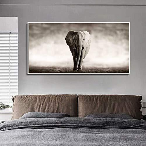 KWzEQ Quadri su Tela Elefante Dipinti per Soggiorno Decorazione Animali Quadri Quadri su Tela,Pittura Senza Cornice,40X80cm