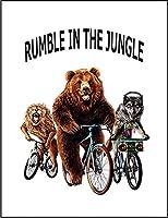 【熊 オオカミ ライオン 自転車】 余白部分にオリジナルメッセージお入れします!ポストカード・はがき(白背景)