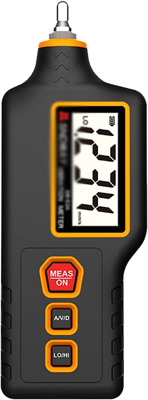 ZzheHou Medidor De Vibraciones Medidor De Vibración Portátil Motor Portátil Detector De Vibración Medidor De Vibración Medidor De Vibración (Color : Black, Size : 17.7x6.5x2.8CM)