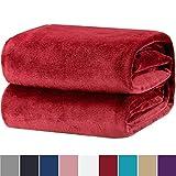 Bedsure Kuscheldecke Rot Flauschige Decke, extra weich& warm Wohndecke in Wohnzimmer, 150x200 cm Flanell Fleecedecke, Falten beständig/Anti-verfärben als Sofadecke oder Bettüberwurf