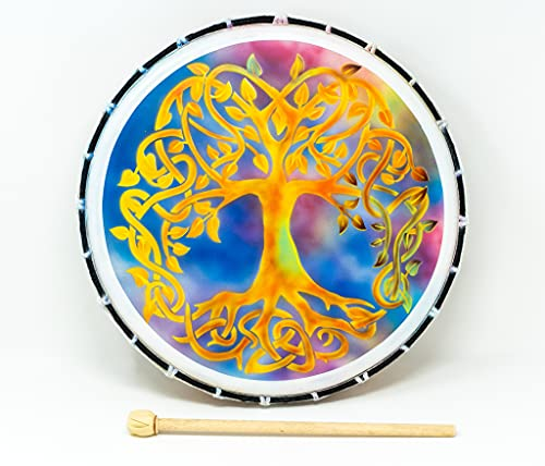 Tambor de chamán Bodhran Tambour 40 x 7 cm - Incluye mazo