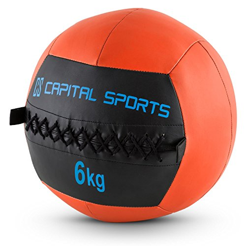 Capital Sports Wallba (Medicine Ball Set of 5 6kg Leatherette) - Orange