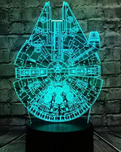 3D Luz de la Noche Moda Luminaria Muerte Star Wars R2D2 BB 8 Darth Vader K ing Dibujos Animados de Juguete Mesa Escritorio Dormitorio-7 Colores cambiantes