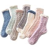 Zando Women's Fuzzy Socks Winter Warm Slipper Socks Super Soft Fluffy Socks Thick Microfib...