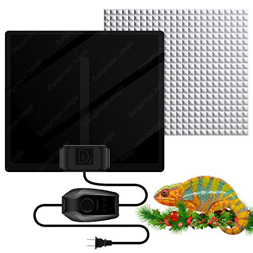 MOSONTH Reptile Heating Pad 5W Temperature Adjustable Under Tank for 10-20gal Terrarium Heat Mat for Turtle, Tortoise, Lizard, Spider, Snake, Frog, Plant Box Winter Heat Device