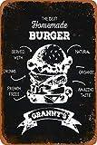 Generic Brands Burger Fries American Food Menu Retro