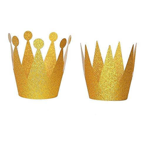 Fablcrew - Partyhüte in Gold, Größe 6.5*10cm/6*9cm