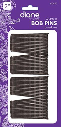 Diane Bobby pins, Noir 5,1 cm 60 EA (lot de 12)