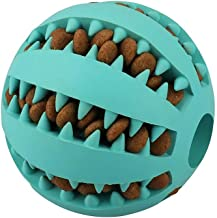 QINUKER Dog Ball Toys for Pet, Interactive Durable Strong Teeth Chewing Playing IQ Training Chew Toy Soft Natural Rubber Bite Resistant for Small Medium Puppy Indoor Outdoor