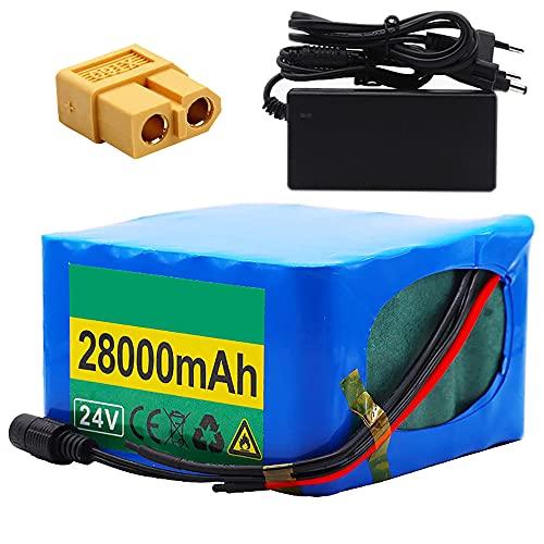 TGHY Batteria al Litio 24V 28Ah per Bicicletta Elettrica Batteria 28000mAh con Caricabatterie e BMS per Triciclo Elettrico Golf Cart Scooter Elettrico Go-Kart Sedia a Rotelle Elettrica,Xt60