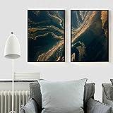 Carteles e impresiones impresos en lienzo cuadro artístico de pared Paiting paisaje río del desierto para sala de estar decoración del hogar 50x70cmx2 sin marco